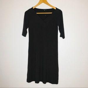Eileen Fisher Womens Dress Brown V-Neck Stretch